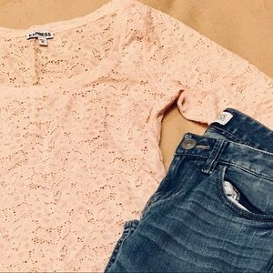 Express Blush Lace Top